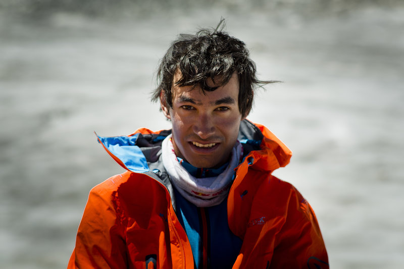 Portrait of David Lama, taken in Pakistan on 25.06.2013.