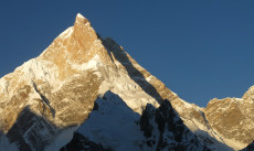 The unclimbed Northeast face of Masherbrum, Pakistan on 14.6.2013.