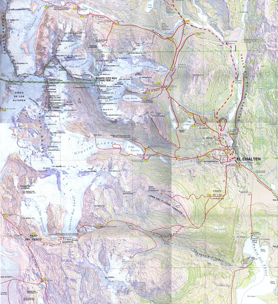 Карта патагонии El Chalten